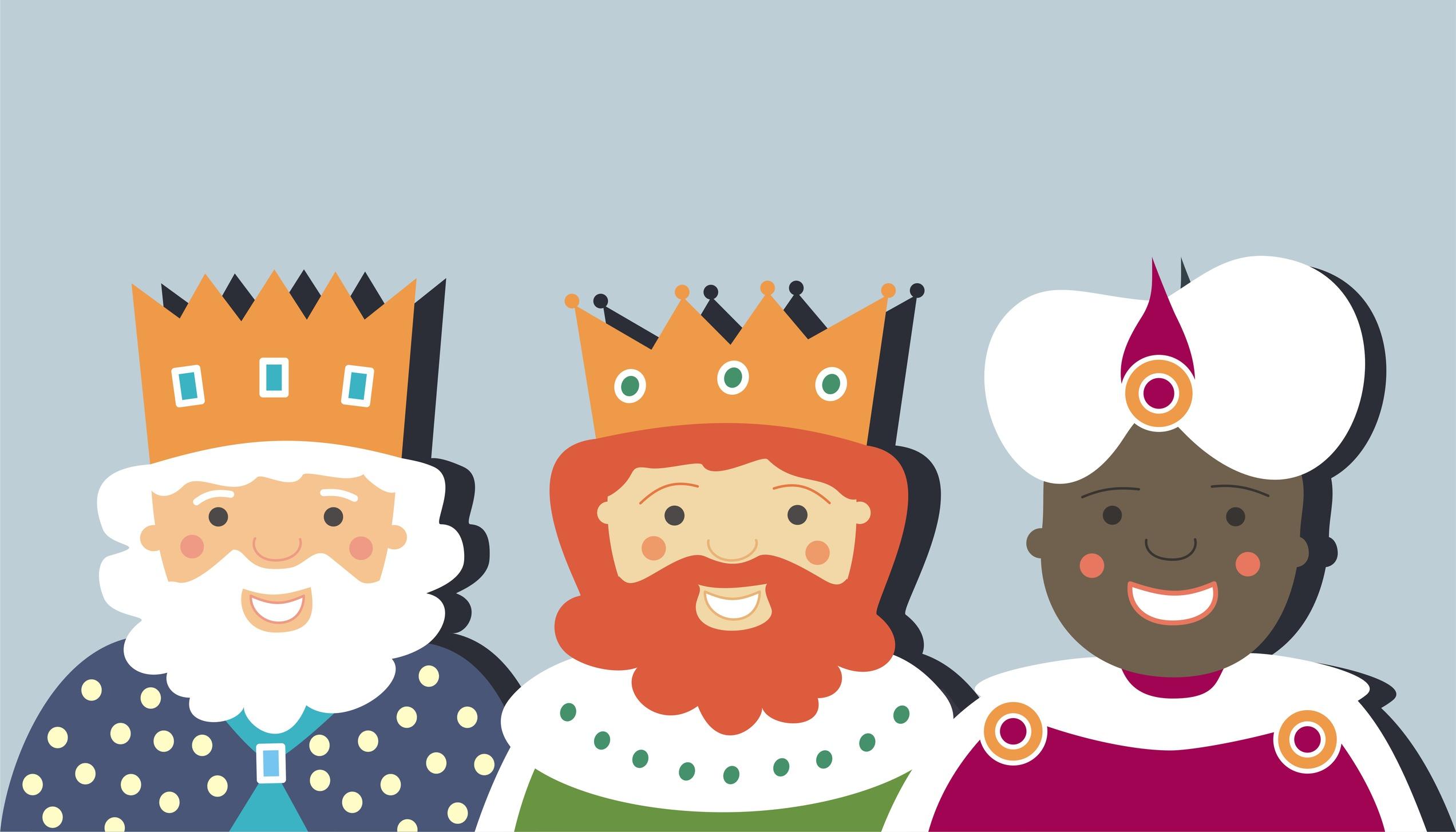 Reyes Magos de Oriente AZUL G