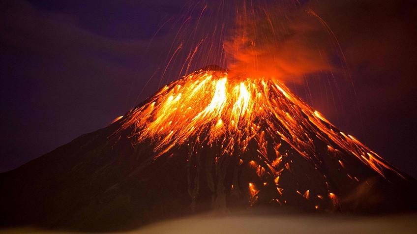Soñar con montaña de fuego